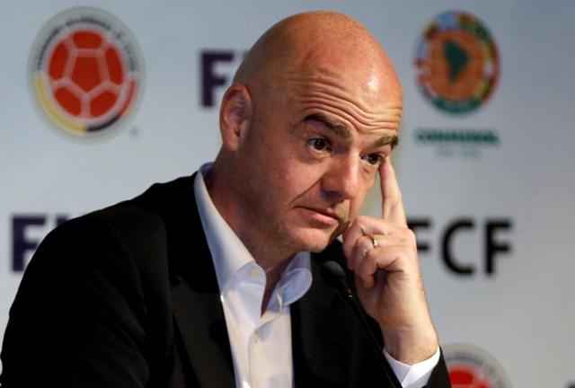 Na snímke prezident Medzinárodnej futbalovej federácie (FIFA) Gianni Infantino