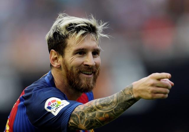 Na snímke futbalista FC Barcelona Lionel Messi
