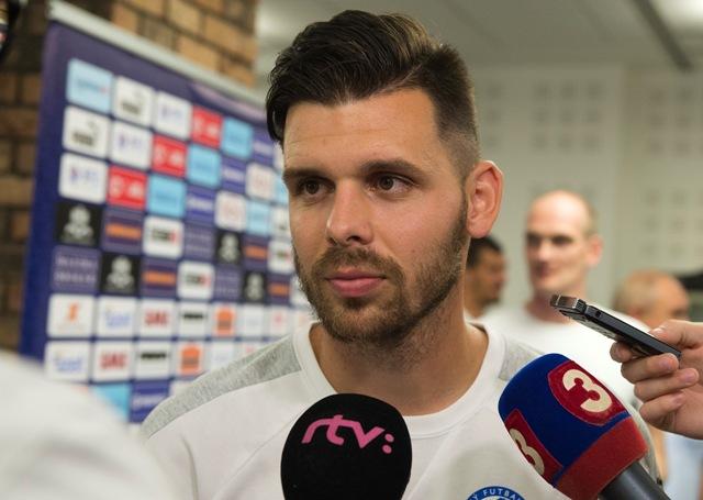 Na snímke slovenský futbalový reprezentant Michal Ďuriš