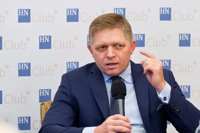 Koncoročné diskusné fórum Hospodárskych novín – HNClub s predsedom vlády SR Robertom Ficom (na snímke)