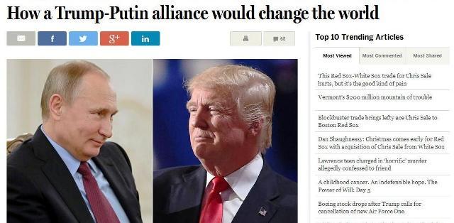 The Boston Globe: Ako aliancia Trump – Putin môže zmeniť svetový poriadok