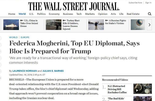 Screenshot The Wall Street Journal