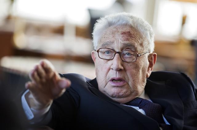 Na snímke bývalý americký minster zahraničných vecí Henry Kissinger