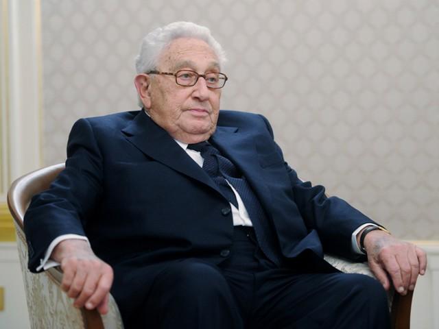 Na snímke bývalý americký šéf diplomacie Henry Kissinger