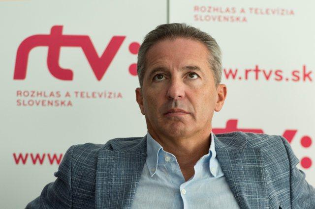 Na snímke generálny riaditeľ RTVS Václav Mika