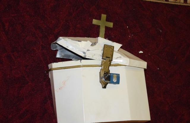 Krádež peňazí z kostola v Hurbanove