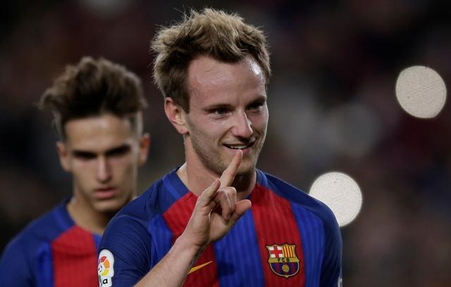 Futbalista FC Barcelona Ivan Krkič sa teší po premenení penalty v stredajšom odvetnom zápase šesťnásťfinále Kráľovského pohára FC Barcelona - Hercules