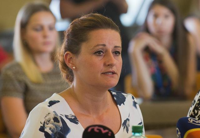 Na snímke predsedníčka poslaneckého klubu SaS Natália Blahová