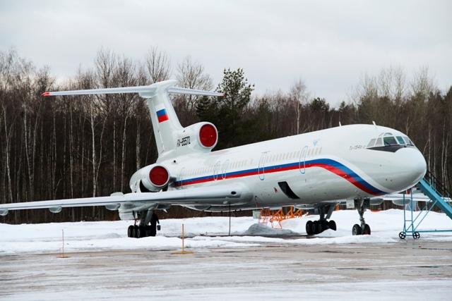 Na snímke lietadlo typu Tu-154