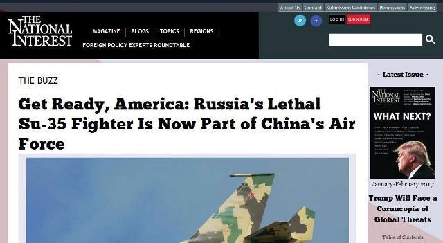 """The National Interest: """"Priprav sa, Amerika: hrozné ruské Su-35 sú už v službách čínskych Vojensko-vzdušných síl"""""""
