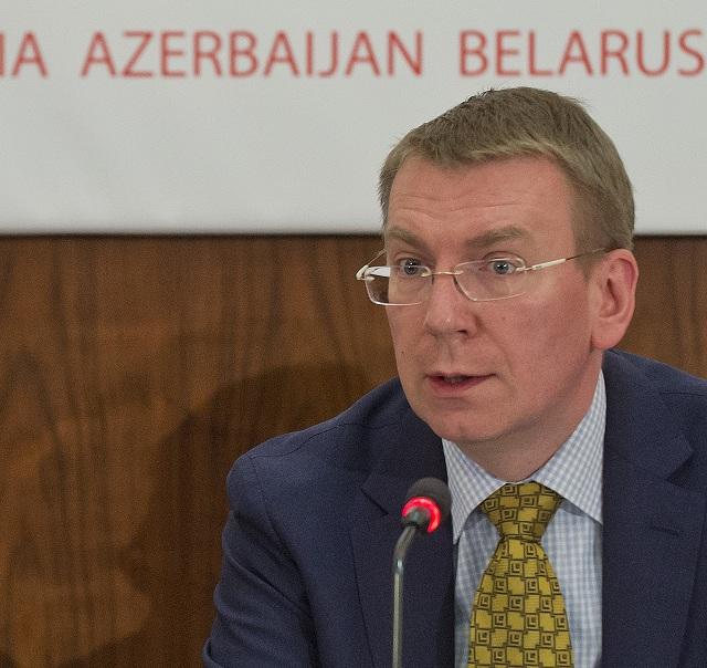 Minister zahraničných vecí Lotyšska Edgars Rinkévičs