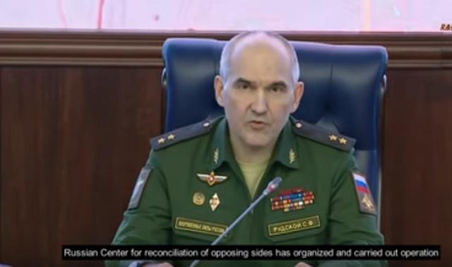 Náčelník Generálneho štábu Ozbrojených síl RF, generálporučík Sergej Rudskoj
