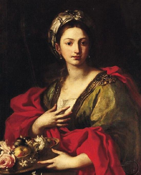 Svätá Dorota, olejomaľba Jacopo Cestarojpg