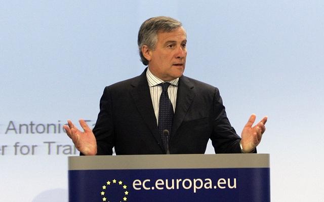 Na archívnej snímke Antonio Tajani