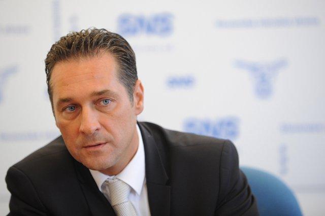 Na snímke predseda rakúskej Strany slobody Heinz-Christian Strache