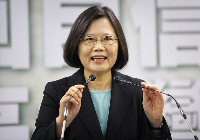 Na archívnej snímke Cchaj Jing-wen