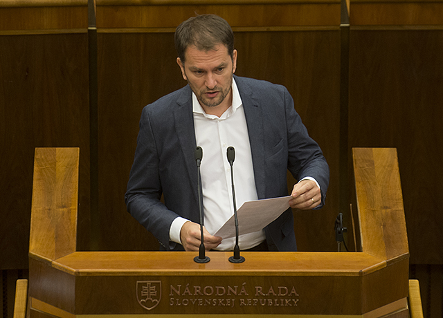 Na snímke poslanec NR SR Igor Matovič (OĽaNO)