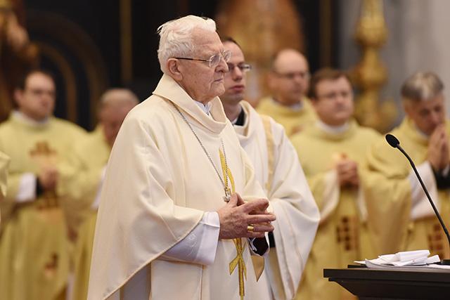 Na snímke emeritný diecézny arcibiskup Trnavskej arcidiecézy Ján Sokol.