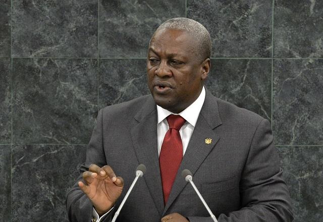 Ghanský prezident John Dramani Mahama