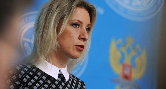 Na snímke hovorkyňa ruského ministerstva zahraničných vecí Mária Zacharovov