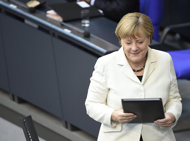 Na archívnej snímke Angela Merkelová