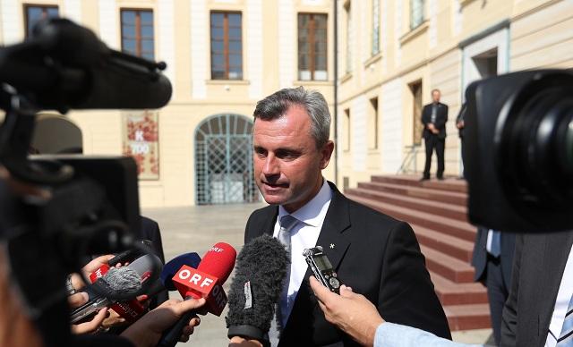 Rakúsky prezidentský kandidát Norbert Hofer