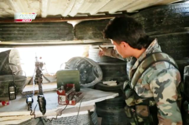 Na snímke člen vládnej sýrskej armády