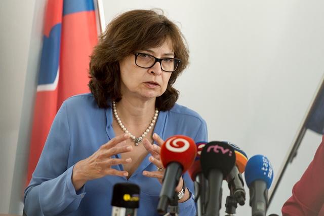 Na snímke podpredsedníčka vlády a ministerka spravodlivosti SR Lucia Žitňanská