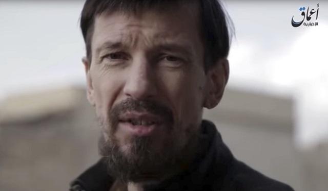 Na archívnej snímke britský novinár John Cantlie