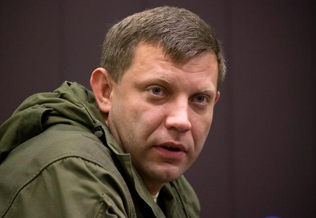 Na snímke líder Doneckej ľudovej republiky Alexander Zacharčenko