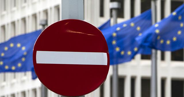 vlajky dopravná značka zákaz vstupu