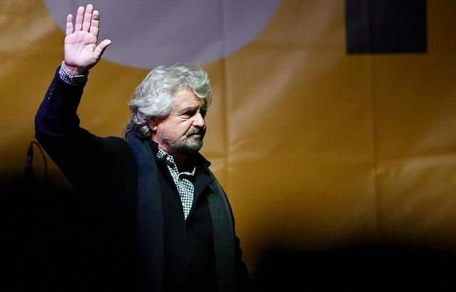 Na snímke Beppe Grillo
