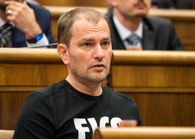 Na snímke poslanec NR SR a šéf OĽaNO-NOVA Igor Matovič