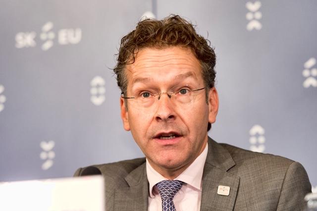 Na snímke holandský minister financii a predseda Euroskupiny Jeroen Dijsselbloem