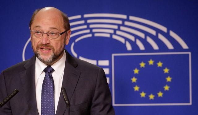 Na snímke predseda Európskeho parlamentu (EP) Martin Schulz