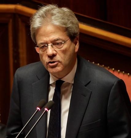 Na snímke dezignovaný taliansky premiér Paolo Gentiloni
