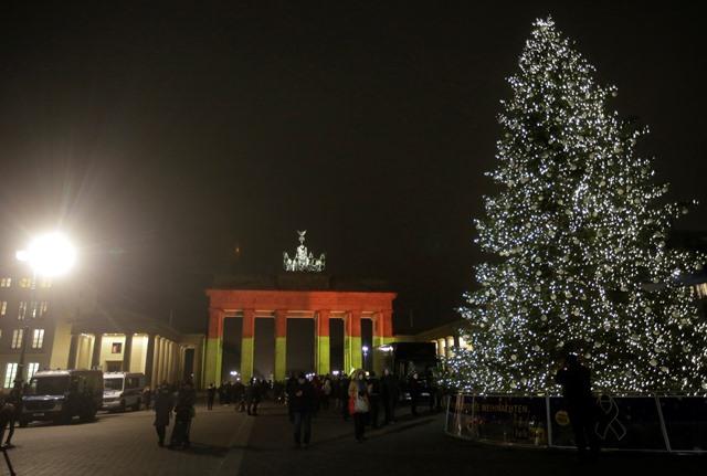 Na snímke brandenburská brána