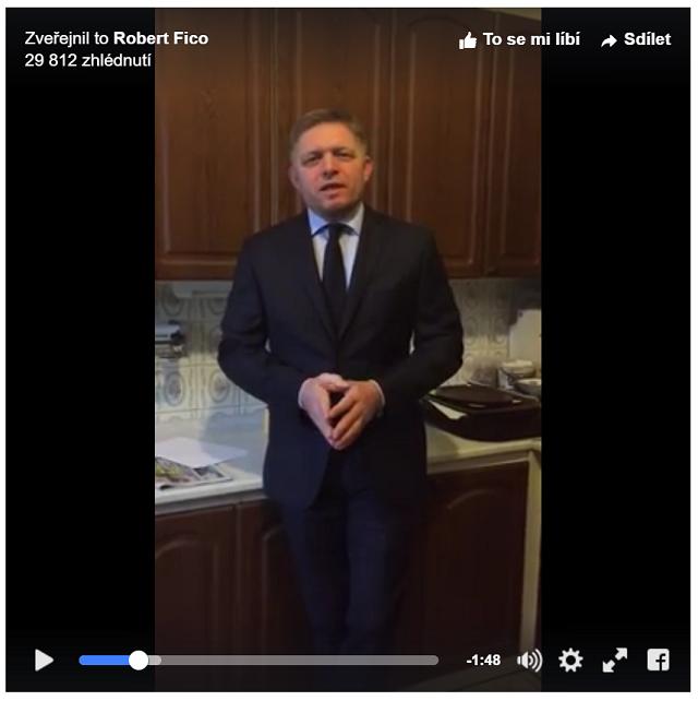 Premiér Robert Fico v kuchynke úradu vlády