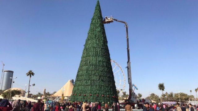 Vianočný stromček v Mosule