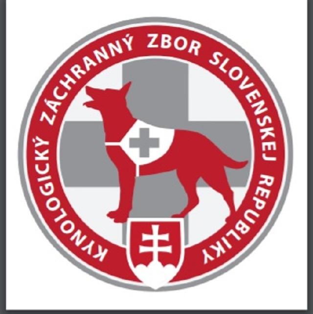 Na snímke logo Kynologického záchranného zboru Slovenskej republiky