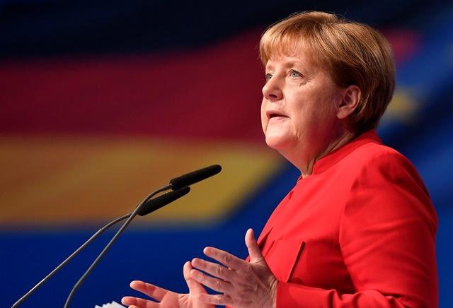 Na snímke  nemecká kancelárka a predsedníčka CDU Angela Merkelová