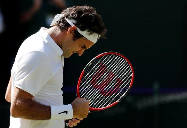Na snímke Roger Federer