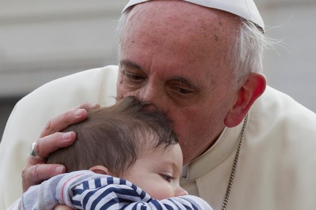 Ilustračné foto: Na snímke pápež František