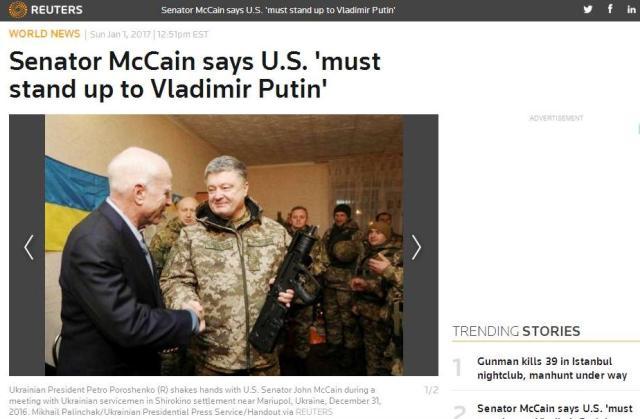John McCain spolu s dvoma kolegami pokračuje vo svojom turné po Európe, na pár dní zavítal na Ukrajinu
