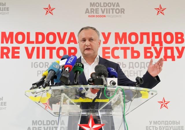 Na snímke moldavský prezident Igor Dodon
