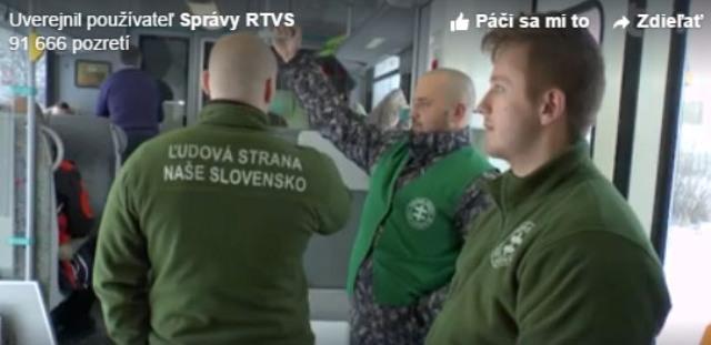 Televízia RTVS odvysielala dňa 3. januára reportáž o vlakových hliadkach, ktoré vykonávajú členovia strany ĽS NS