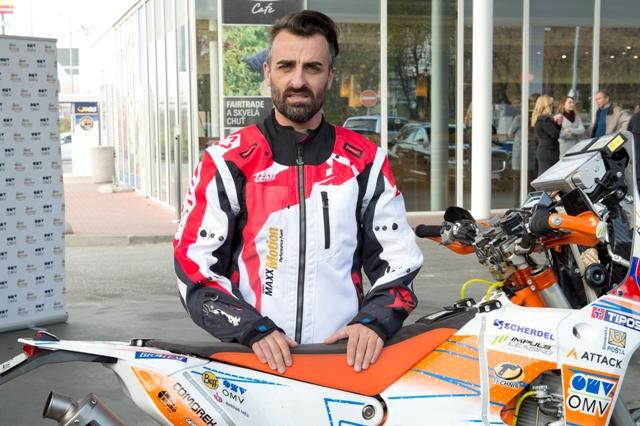 Na snímke slovenský motocyklový pretekár Ivan Jakeš