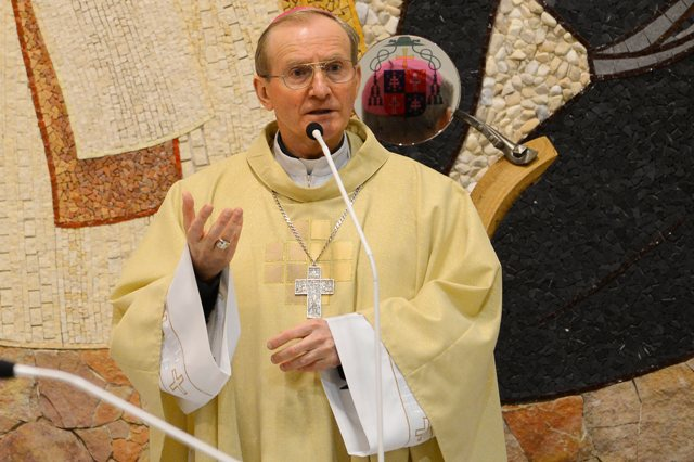 Na snímke vojenský biskup František Rábek