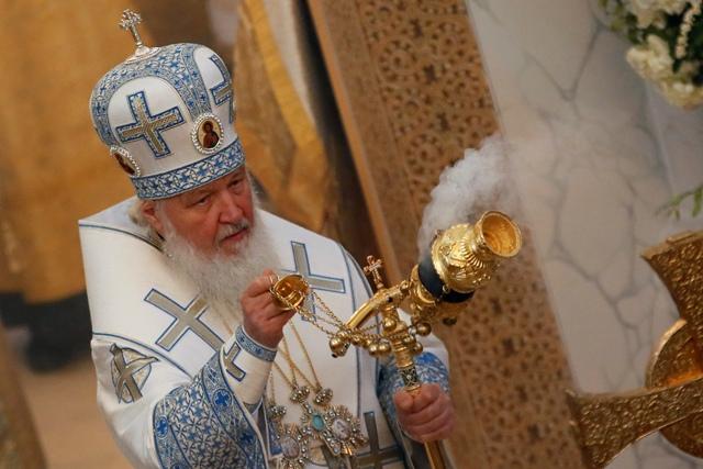 Na snímke ruský patriarcha Kirill