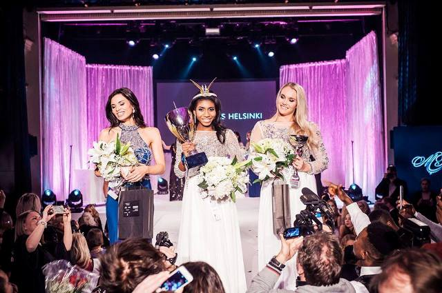 Súťaž krásy Miss Helsinki 2017 vyhrala minulý piatok 19-ročná Sephora Ikalaba